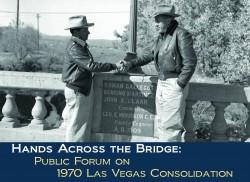 Photos of East Las Vegas Mayor Alfredo Maes and West Las Vegas Mayor Robert Wester about 1954.