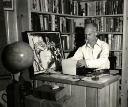 Ernie Pyle at his home in Albuquerque