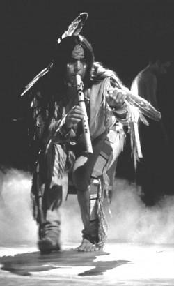 Robert Mirabal in performance.